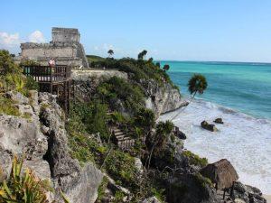 Mexiko Yucatan Tulum Maya-Pyramide