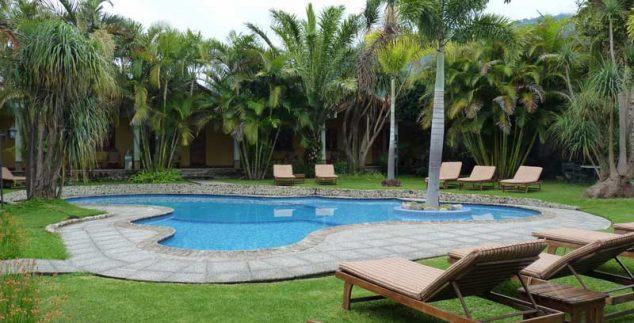 Pool der Unterkunft in Panajachel