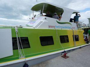 Belize-Wassertaxi-nach-Caye-Caulker