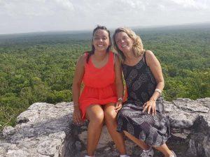 Die Mayastätte Calakmul mit der Familie besichtigen