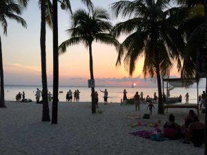 Letzter Abend am Strand von Mexiko