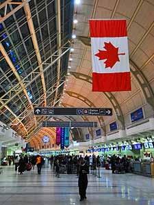 Canada visum: vliegveld