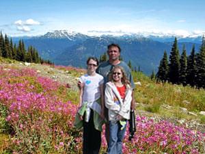Alpenwei en bergvallei