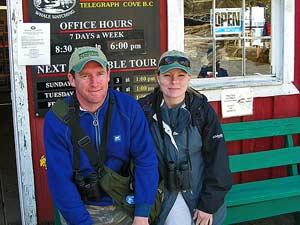 Telegraph Cove: walvissen kijken