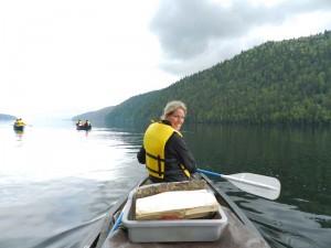 Kayakken tijdens Canada vakantie