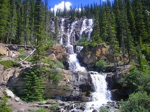 Wandelen door natuur in Canada