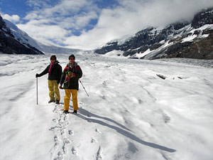 Icefields walk over besneeuwde gletsjer