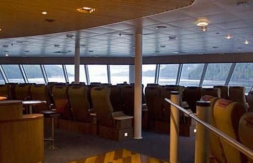Dek veerboot Inside Passage