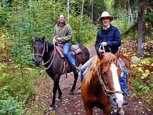 Paardrijden door Wells Gray PP