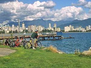 Canada rondreis: fietsen Vancouver