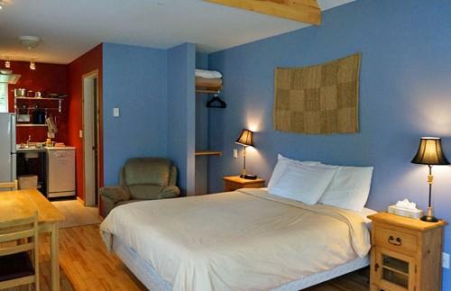 Kamer van je cottage in Ucluelet