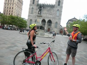 Fietsen door Montréal Canada
