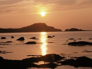 Zonsondergang Gaspésie schiereiland
