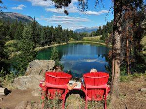 Uitzicht meer - Canada reis
