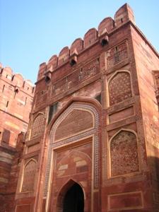 Rotes Fort mit Blick auf das Taj Mahal