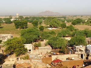 Ausblick vom heritage Hotel und Fort auf Barli