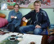 Tee trinken in Darjeeling