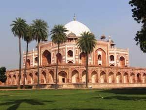 Das Humayum Tomb in Delhi