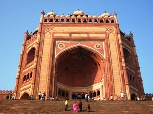 Moschee bei Fatehpur Sikri im Goldenen Dreieck Indiens