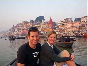 Bootstour am Morgen auf dem Ganges