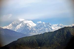 Sikkim: Blick von Gangtok auf das Gebirgspanorama
