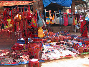 Markt in Anjuna in Goa
