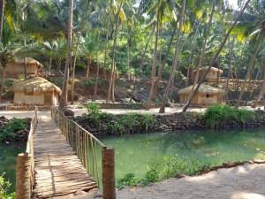 Naturhaus am Strand von Goa