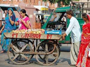 Handkarren in Jaipur