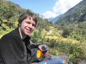 Pause während der Trekkingtour im Himalaya