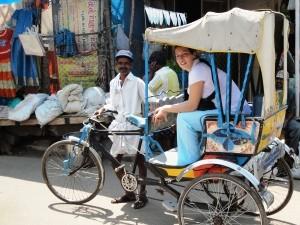 Mit der Fahrradrickscha durch Madurai