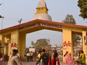 Indien Nepal Rundreise Grenzübertritt Sunauli