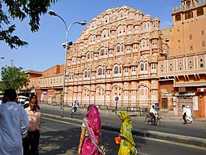 Past der Winde in der rosa Stadt Jaipur.