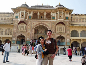Paar am Amber Fort