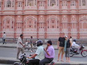 Palast der Winde in Jaipur im Goldenen Dreieck Indiens