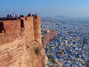 Ausblick auf die blaue Stadt Jodhpur