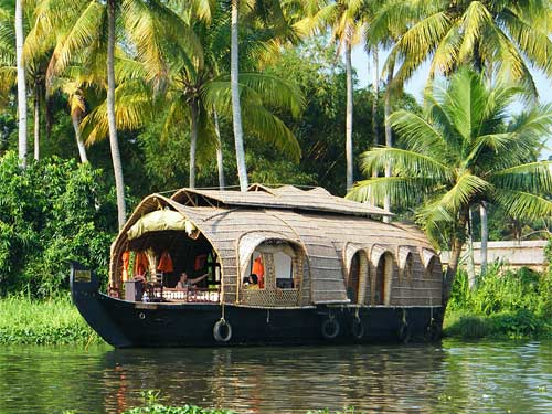Südindien Reisen Hausboot Backwaters Kerala