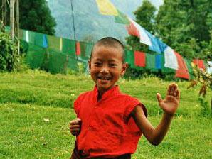 Bekanntschaft mit einem kleinen Jungen Sikkim