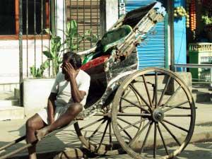 Rikscha-Fahrer in Kolkata