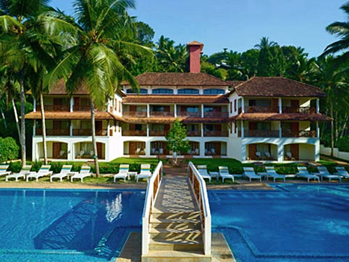 Beach Hotel in Kovalam bei Indien Reise
