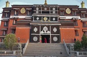 Eingang zum Labrang Kloster in Gangtok.