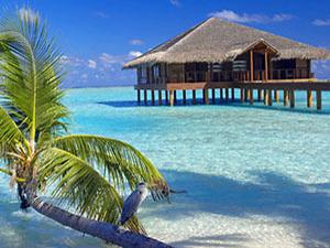 Wasser-Bunglaow auf den Malediven