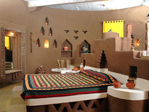 Hotelzimmer in Mandawa bei Nordindien Rundreise
