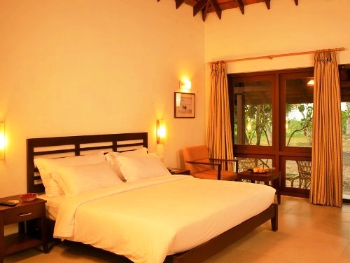 Hotel am Marari Beach in Südindien.