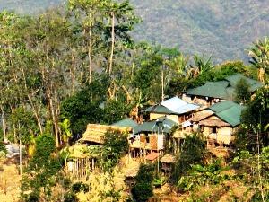 Landschaft im Nagaland in Nordost- Indien