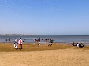 Nagoa Strand auf Insel Diu bei Gujarat Indien Reise