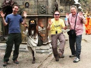 Touristen in Kathmandu
