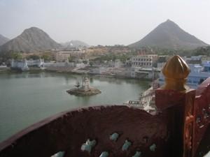 Blick über den See von Pushkar