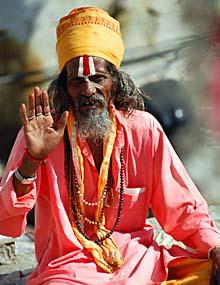 Religiöser Mann in Udaipur
