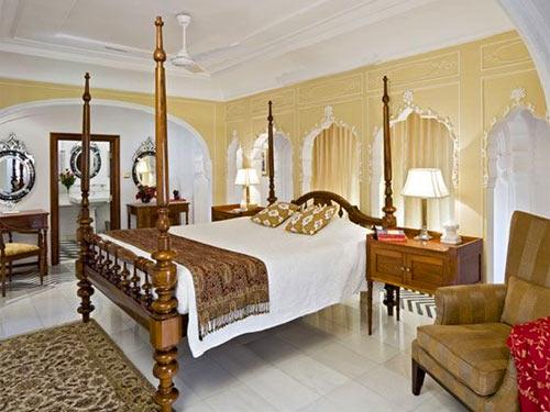Authentische Palastzimmer auf Ihrer Nordindien Rundreise in Samode