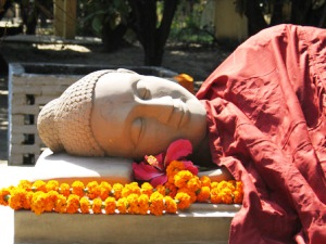 Liegender Buddha in Bodhgaya